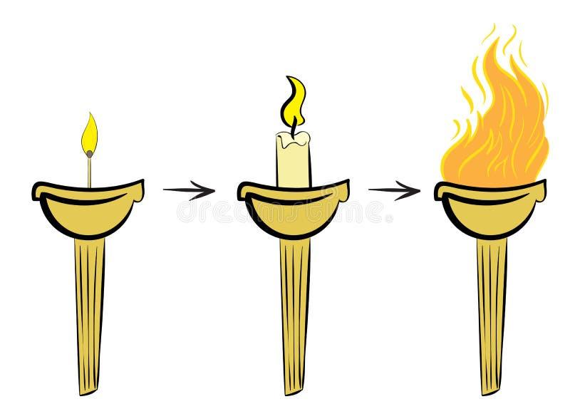 Ασυνήθιστος ένας φανός με την πυρκαγιά ελεύθερη απεικόνιση δικαιώματος