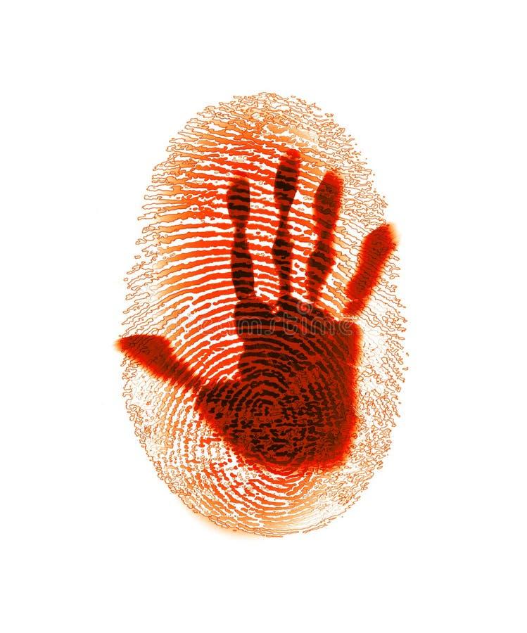 ασφάλεια δακτυλικών αποτυπωμάτων εγκλήματος στοκ εικόνες
