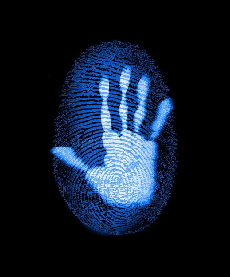 ασφάλεια δακτυλικών απ&omicr διανυσματική απεικόνιση