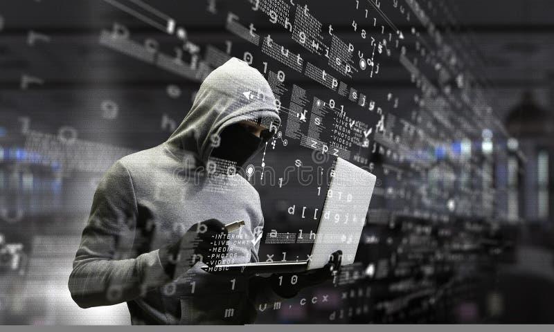 Ασφάλεια δικτύων και έγκλημα μυστικότητας Μικτά μέσα στοκ φωτογραφία