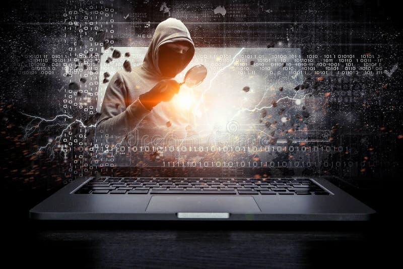 Ασφάλεια δικτύων και έγκλημα υπολογιστών Μικτά μέσα στοκ εικόνες με δικαίωμα ελεύθερης χρήσης
