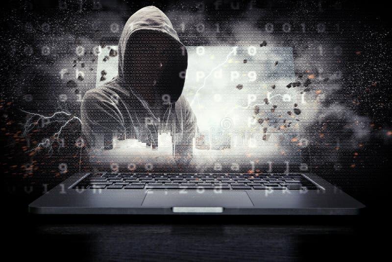 Ασφάλεια δικτύων και έγκλημα υπολογιστών Μικτά μέσα στοκ φωτογραφίες με δικαίωμα ελεύθερης χρήσης