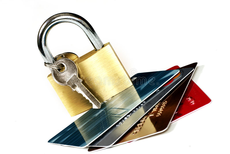 ασφάλεια καρτών στοκ φωτογραφίες