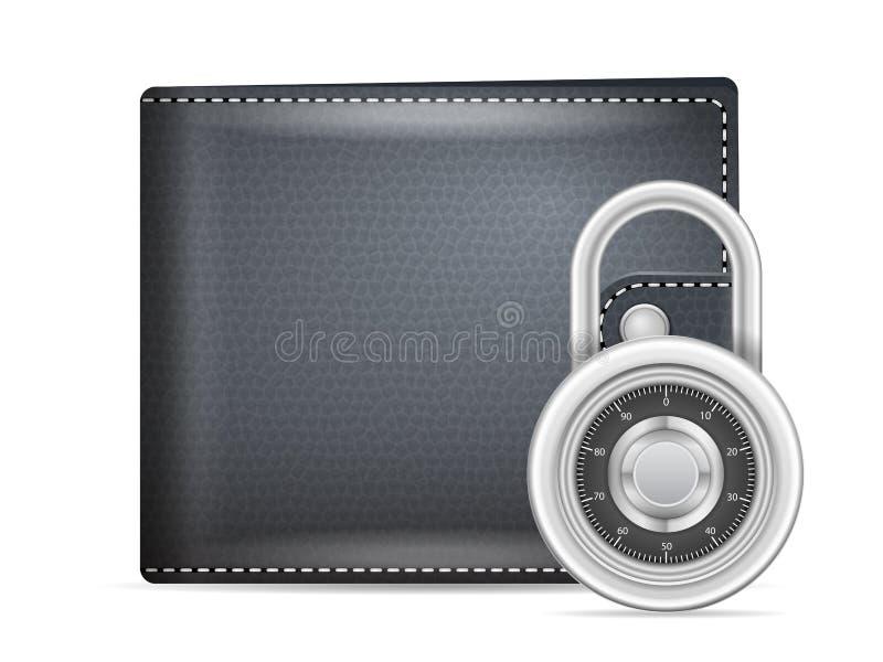 Ασφάλεια πορτοφολιών ελεύθερη απεικόνιση δικαιώματος
