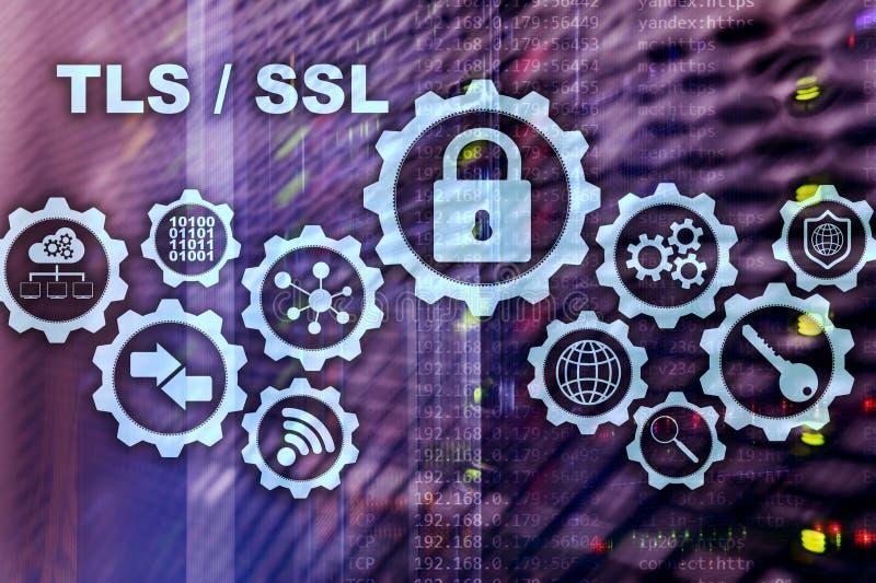 Ασφάλεια στρώματος μεταφορών Εξασφαλίστε το στρώμα υποδοχών SSL TLS τα κρυπτογραφικά πρωτόκολλα παρέχουν τις εξασφαλισμένες επικο στοκ εικόνα με δικαίωμα ελεύθερης χρήσης