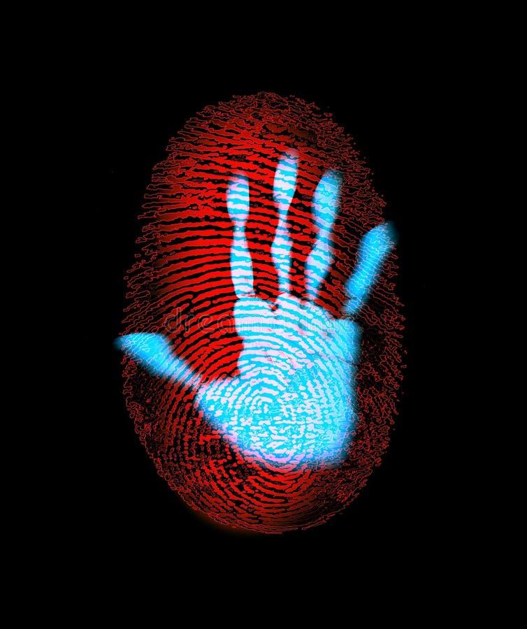 ασφάλεια ταυτότητας χερ&i ελεύθερη απεικόνιση δικαιώματος