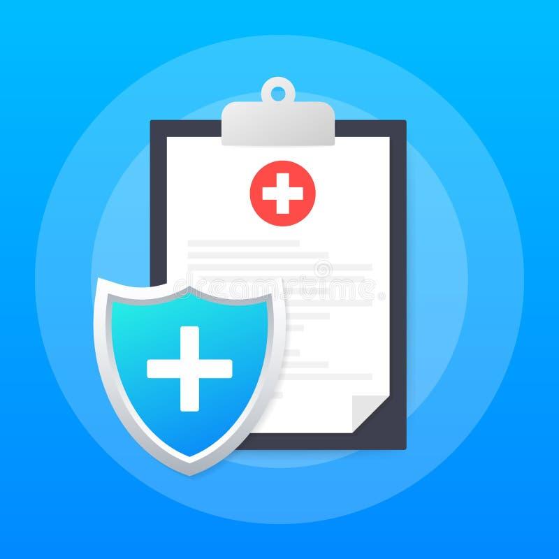 Ασφάλεια υγείας Ιατρική προστασία, έννοιες ιατρικής ασφάλειας : r διανυσματική απεικόνιση