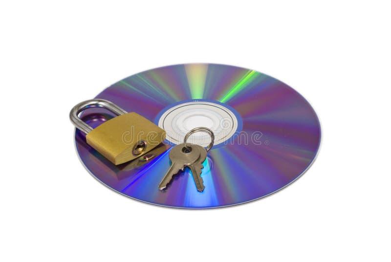 ασφάλεια Cd dvd στοκ φωτογραφία