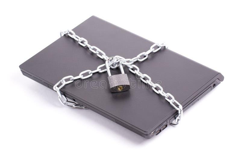ασφάλεια lap-top στοκ φωτογραφίες με δικαίωμα ελεύθερης χρήσης