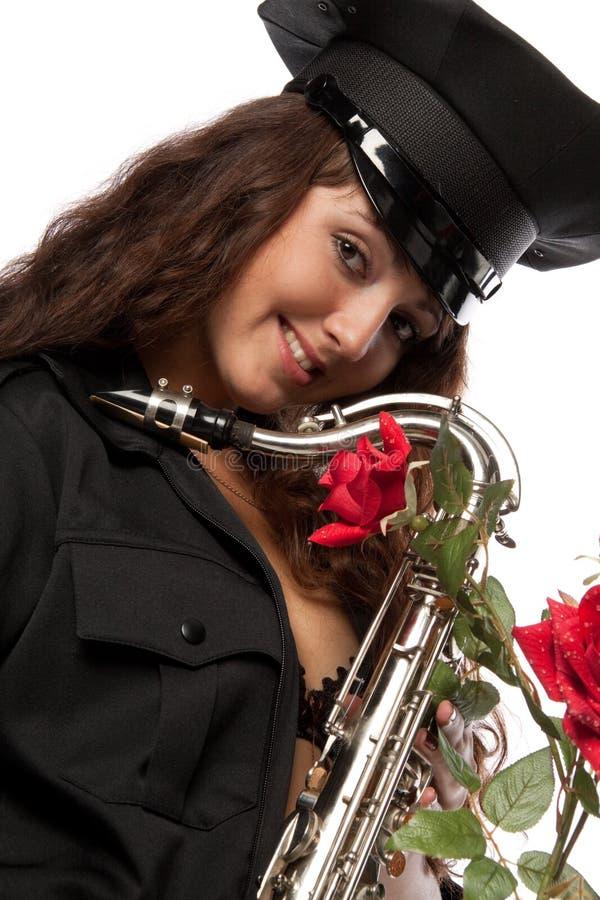 ασφάλεια saxophone φρουράς προκ& στοκ εικόνες με δικαίωμα ελεύθερης χρήσης