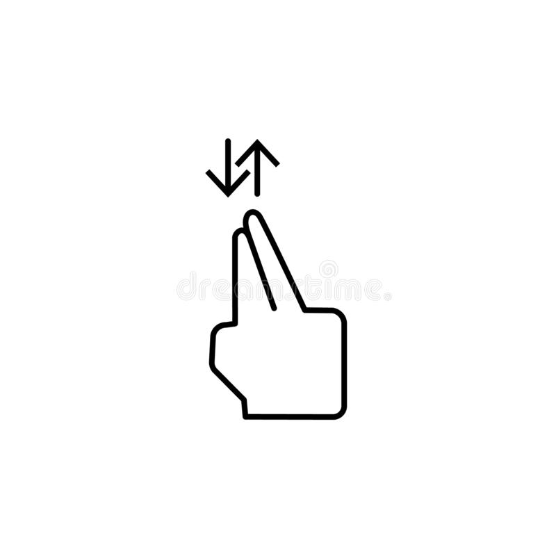 Ασφάλιστρο δάχτυλων, αφή, εικονίδιο χειρονομίας Στοιχείο του εικονιδίου δωροδοκίας o απεικόνιση αποθεμάτων