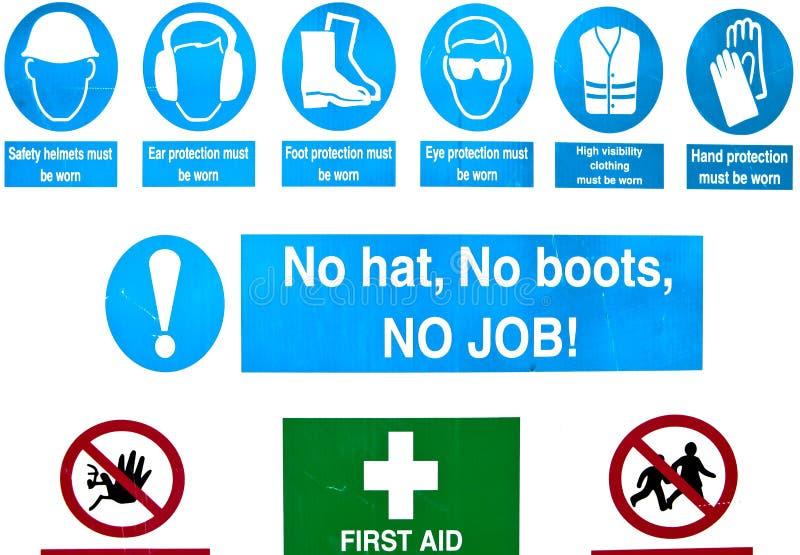Ασφάλεια εργοτάξιων στοκ εικόνα με δικαίωμα ελεύθερης χρήσης
