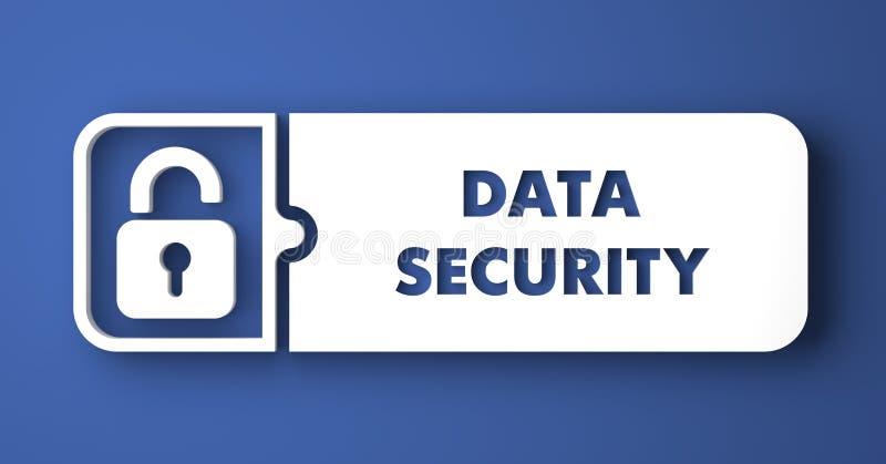 Ασφάλεια δεδομένων στο μπλε στο επίπεδο ύφος σχεδίου. ελεύθερη απεικόνιση δικαιώματος