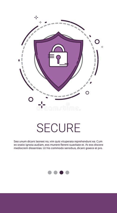 Ασφάλεια δικτύων πληροφοριών Διαδικτύου ιδιωτικότητας προστασίας δεδομένων απεικόνιση αποθεμάτων