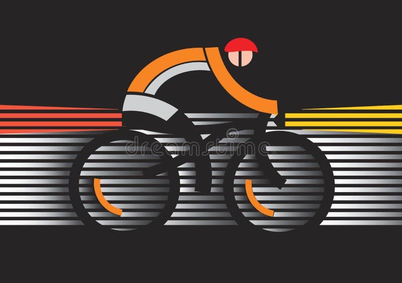 Ασφάλεια ποδηλάτων στο σκοτάδι διανυσματική απεικόνιση