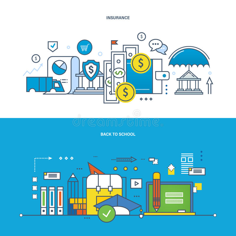 Ασφάλεια, χρηματοδότηση, σύγχρονη εκπαίδευση, εκμάθηση, να διδάξει και έρευνα, επιχείρηση απεικόνιση αποθεμάτων