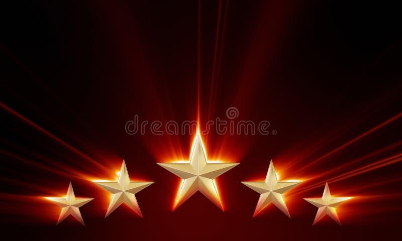 Ασφάλιστρο πέντε αστέρια διανυσματική απεικόνιση