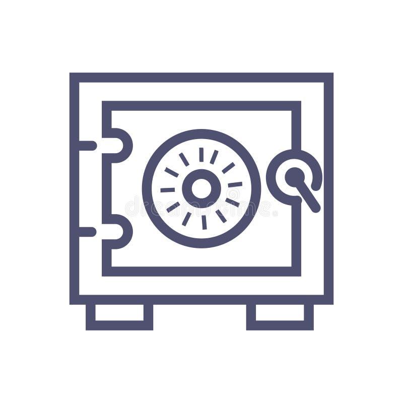 Ασφαλές διανυσματικό εικονίδιο διανυσματικό ασφαλές εικονίδιο απεικόνισης για τον ιστοχώρο ή τα κινητά apps ελεύθερη απεικόνιση δικαιώματος