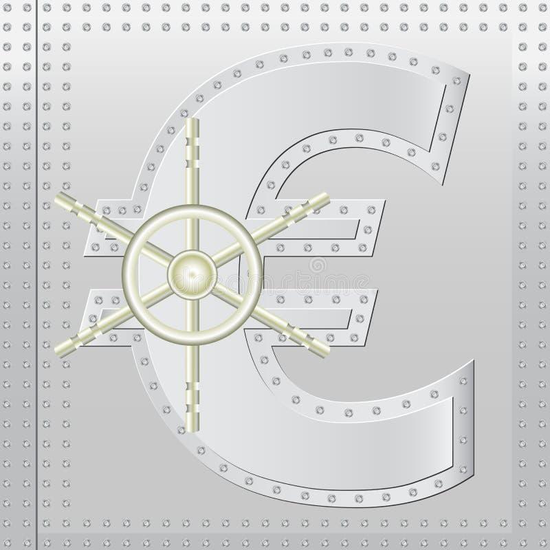 Ασφαλές ευρώ διανυσματική απεικόνιση