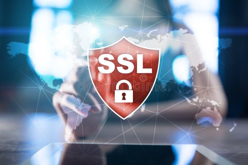 Ασφαλές στρώμα υποδοχών SSL, ένα πρωτόκολλο υπολογισμού Ασφάλεια των στοιχείων που στέλνονται μέσω του Διαδικτύου με τη χρησιμοπο στοκ εικόνες