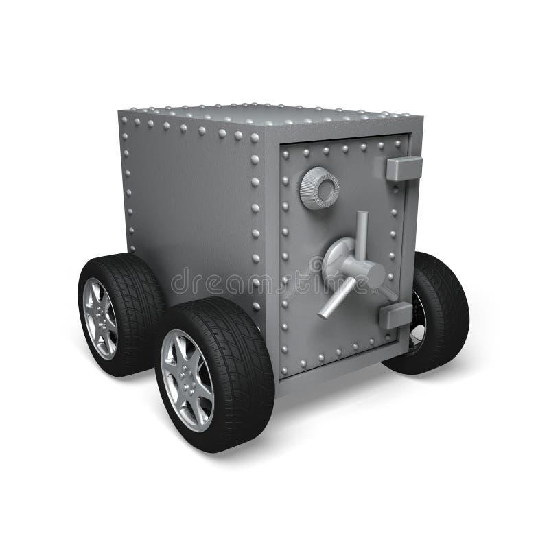 ασφαλείς ρόδες τραπεζών απεικόνιση αποθεμάτων