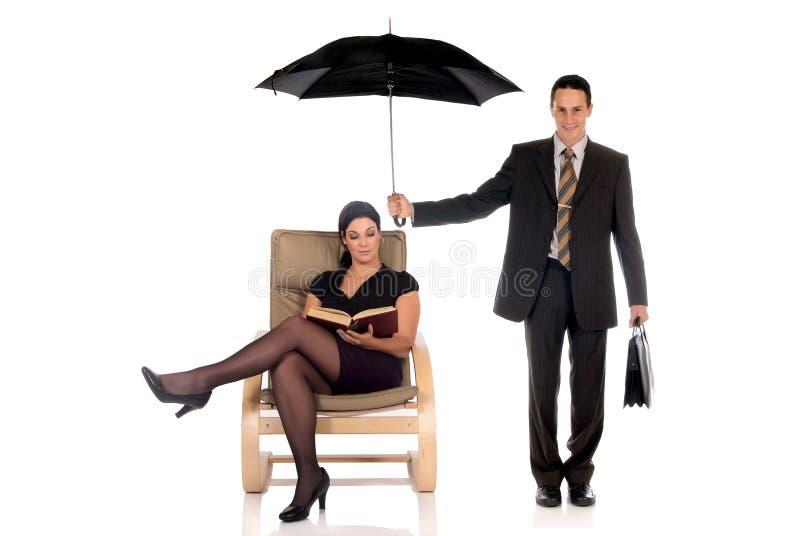 Ασφαλιστικός πράκτορας επιχειρηματιών στοκ εικόνες