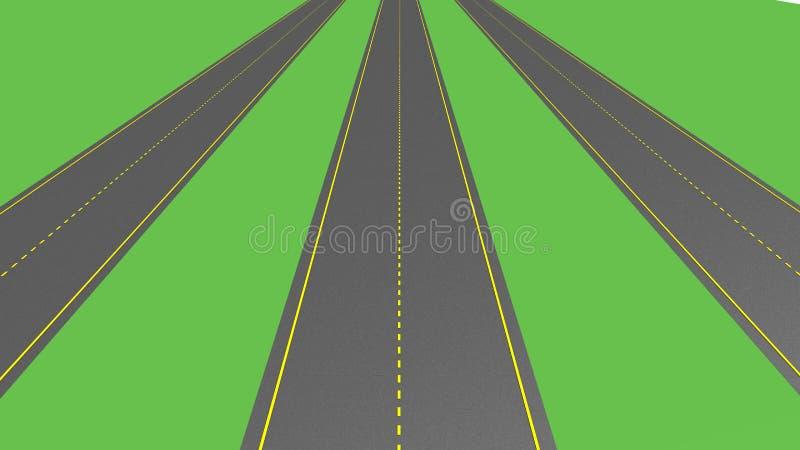 ασφαλτωμένος δρόμος διανυσματική απεικόνιση
