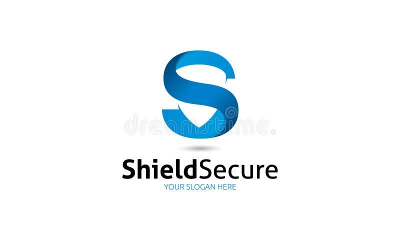 Ασφαλές λογότυπο ασπίδων ελεύθερη απεικόνιση δικαιώματος