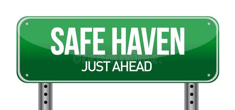 Ασφαλές πράσινο οδικό σημάδι λιμανιών ελεύθερη απεικόνιση δικαιώματος