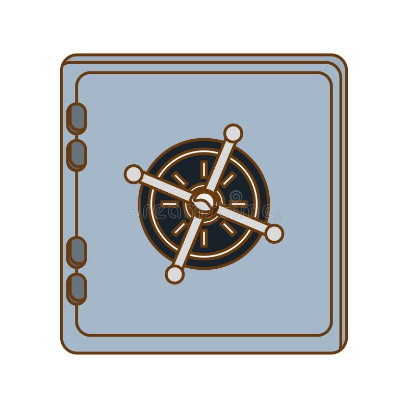 ασφαλής εικόνα εικονιδίων κιβωτίων απεικόνιση αποθεμάτων