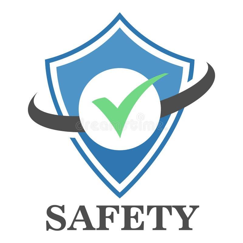 Ασφαλής ζώνη λογότυπων απεικόνιση αποθεμάτων