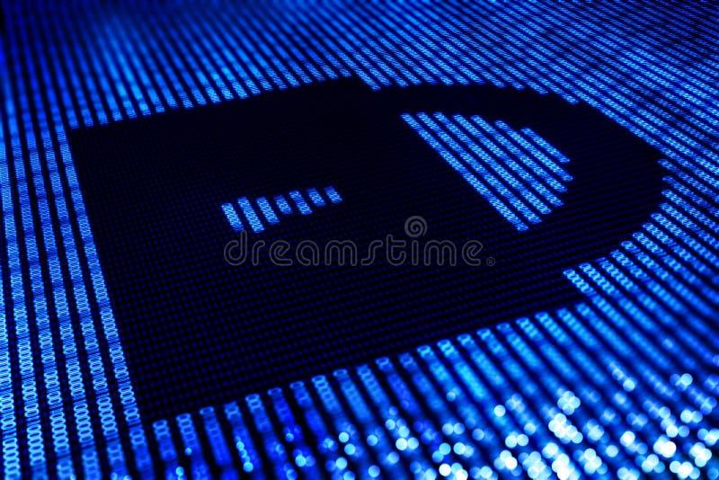 Ασφαλής κλειδαριά ψηφιακή στοκ εικόνα με δικαίωμα ελεύθερης χρήσης