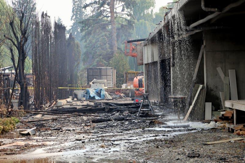 Ασφαλιστικά αρχεία ζώνης καταστροφής πυρκαγιάς και πλημμυρών στοκ φωτογραφία
