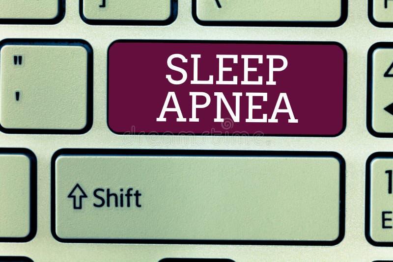 Ασφυξία ύπνου κειμένων γραψίματος λέξης Επιχειρησιακή έννοια για την προσωρινή διακοπή της αναπνοής κατά τη διάρκεια του ύπνου Sn στοκ φωτογραφίες