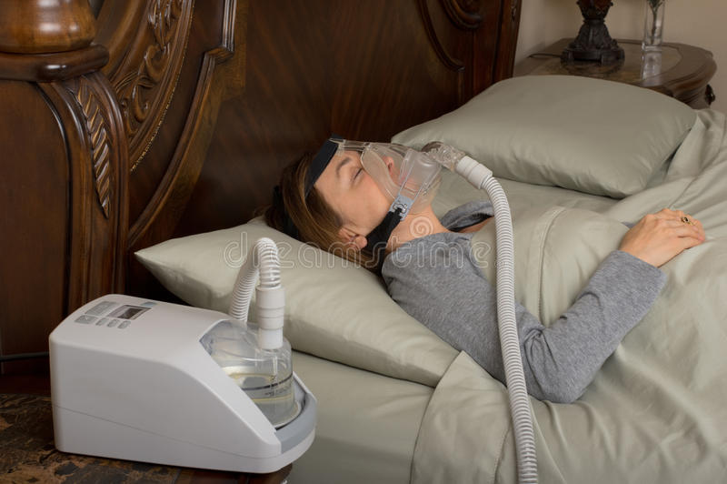 Ασφυξία ύπνου στοκ εικόνες