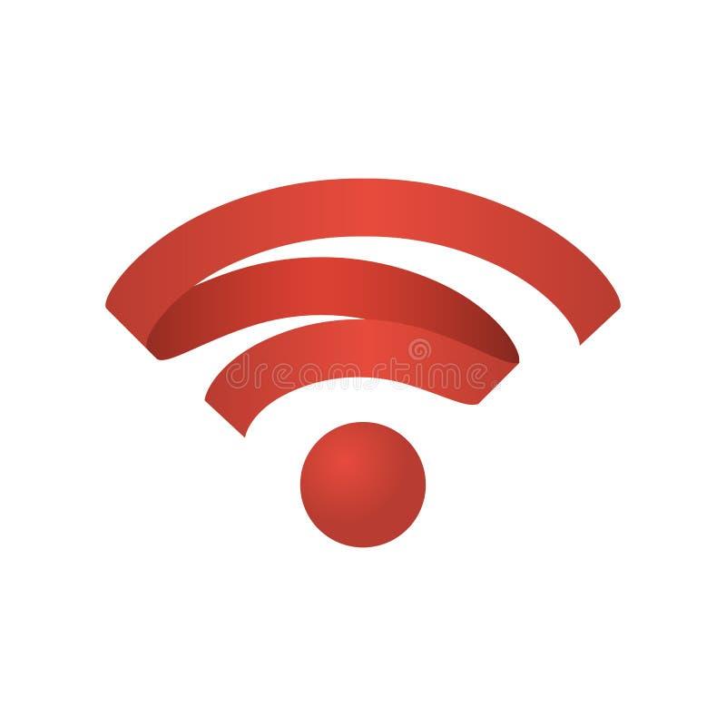 Ασύρματο δίκτυο εικονιδίων Wifi διανυσματική απεικόνιση
