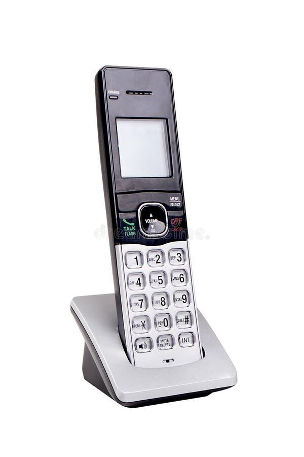 Ασύρματο γενικό τηλέφωνο που απομονώνεται στο λευκό στοκ εικόνα