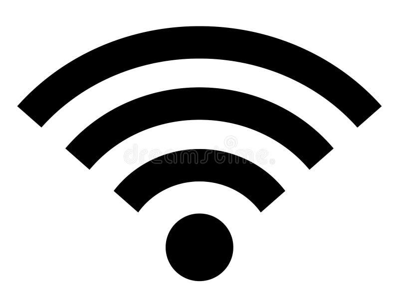 Ασύρματο σήμα σύνδεσης στο Διαδίκτυο εικονιδίων Wifi διανυσματική απεικόνιση