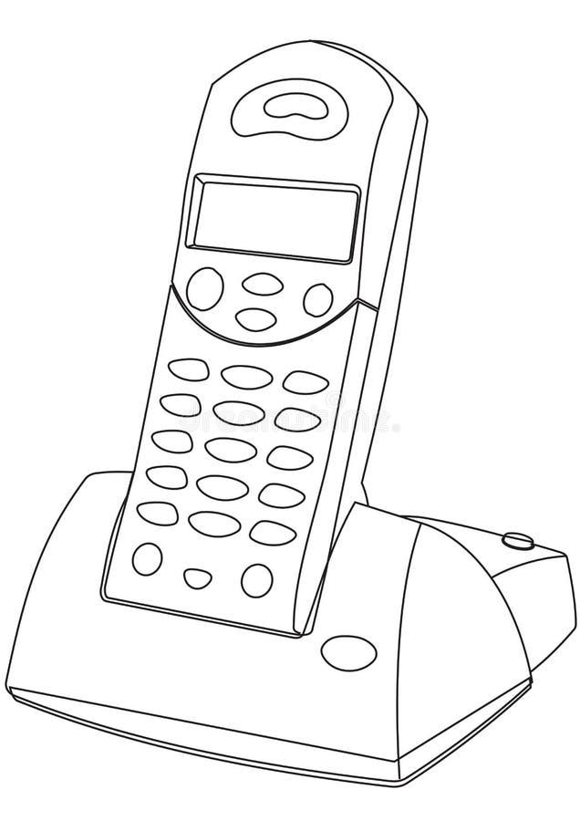 Ασύρματο τηλέφωνο  ελεύθερη απεικόνιση δικαιώματος