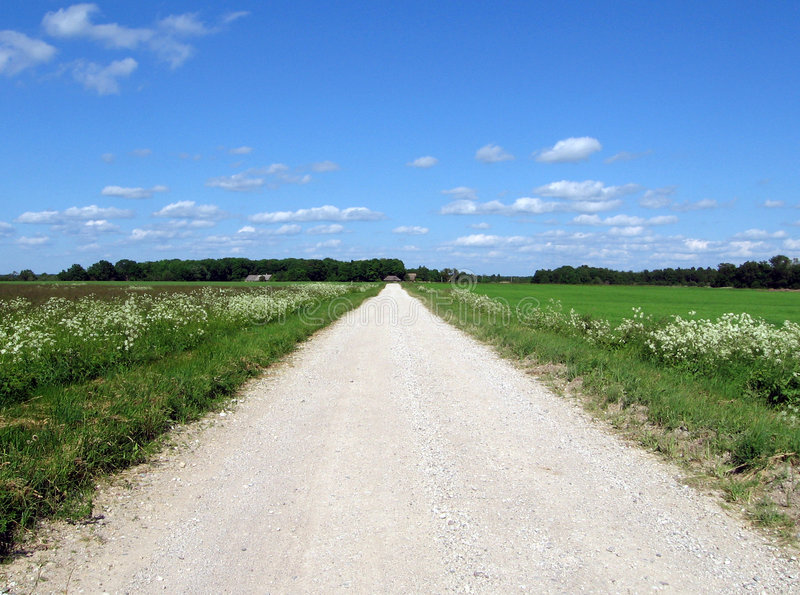 ατελείωτος δρόμος στοκ εικόνα