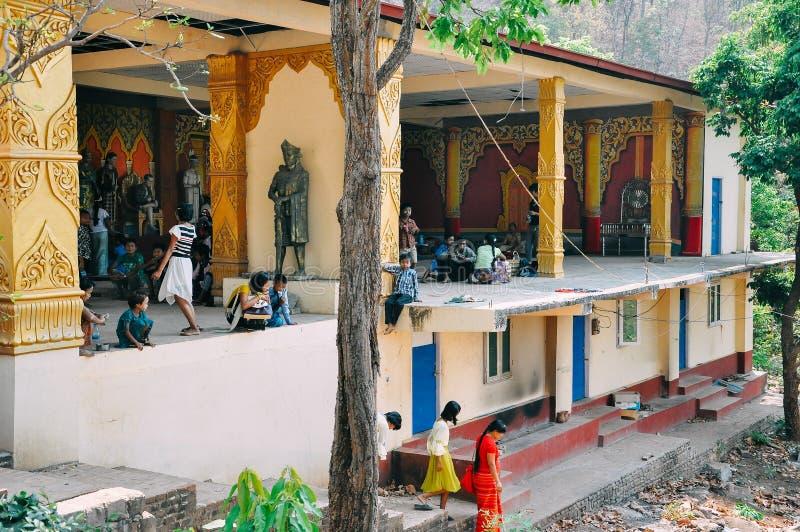Ατελής ναός στο υποστήριγμα Popa στοκ εικόνες