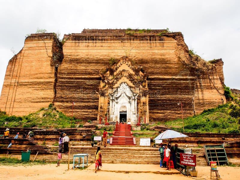 Ατελής παγόδα Mingun, Mandalay, το Μιανμάρ 1 στοκ εικόνα