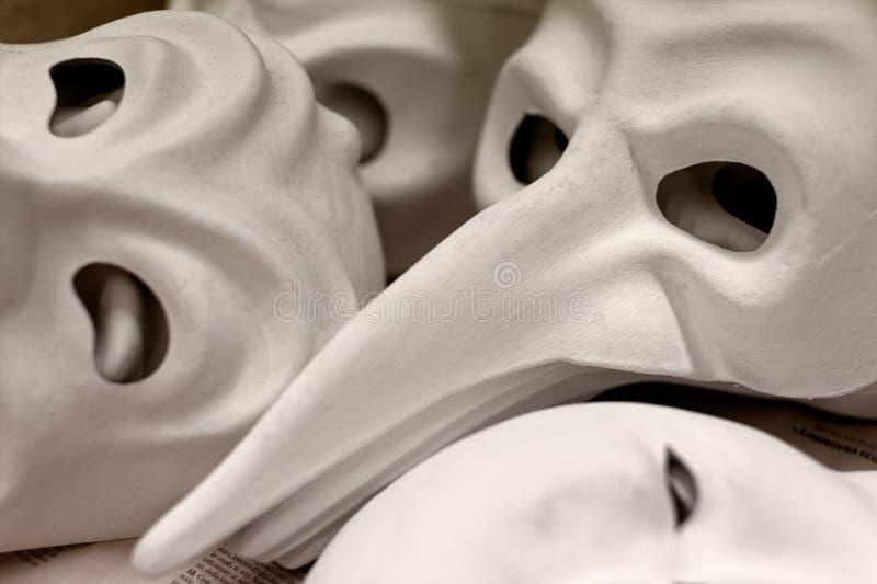 Ατελείς παραδοσιακές μάσκες της Βενετίας στοκ φωτογραφία με δικαίωμα ελεύθερης χρήσης
