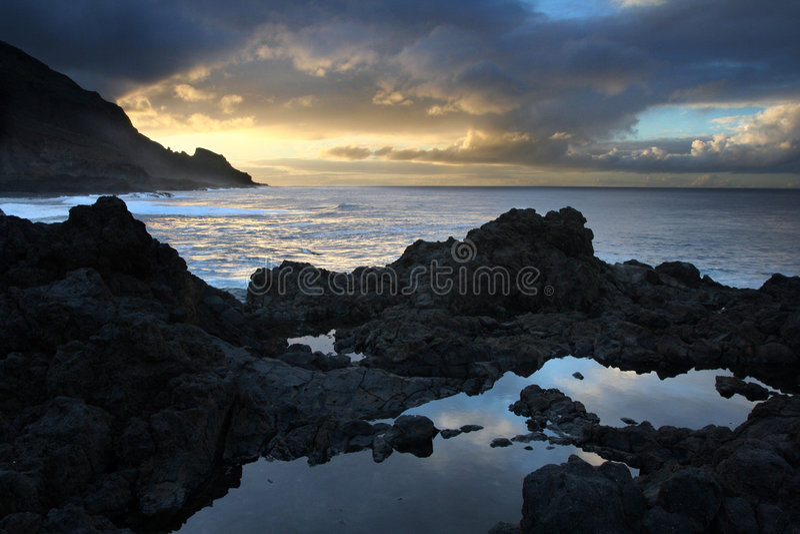 ατλαντική ακτή καναρινιών &theta στοκ φωτογραφία με δικαίωμα ελεύθερης χρήσης