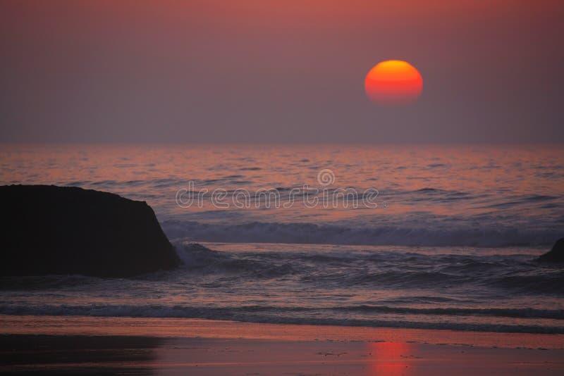 ατλαντικό ηλιοβασίλεμα στοκ εικόνες