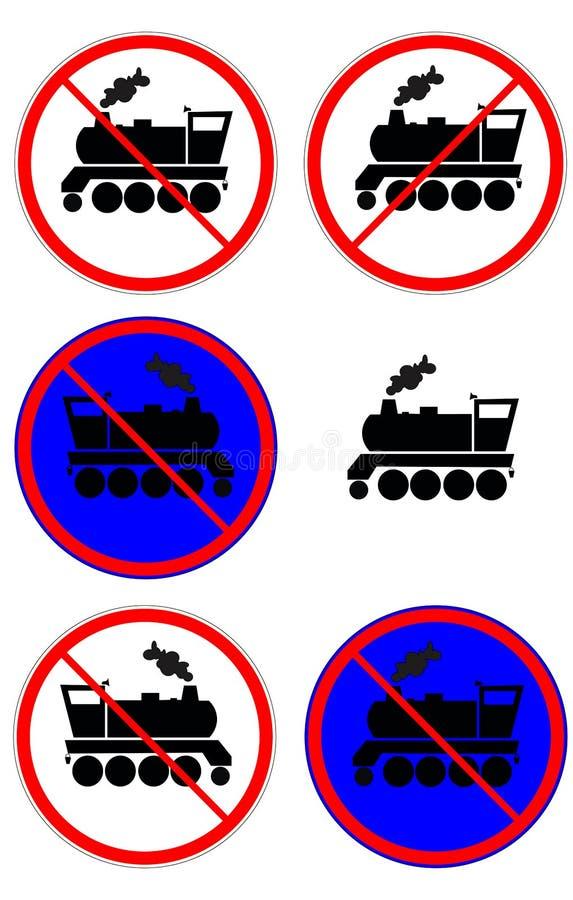 ατμομηχανή απαγόρευση του σημαδιού στοκ εικόνα με δικαίωμα ελεύθερης χρήσης