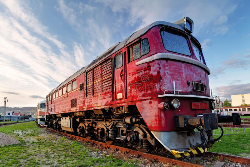 Ατμομηχανή τραίνων στοκ εικόνα με δικαίωμα ελεύθερης χρήσης