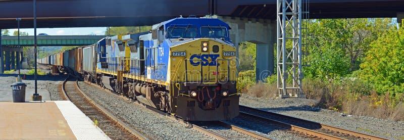 Ατμομηχανή diesel της CSX, Συρακούσες, Νέα Υόρκη, ΗΠΑ στοκ φωτογραφία με δικαίωμα ελεύθερης χρήσης