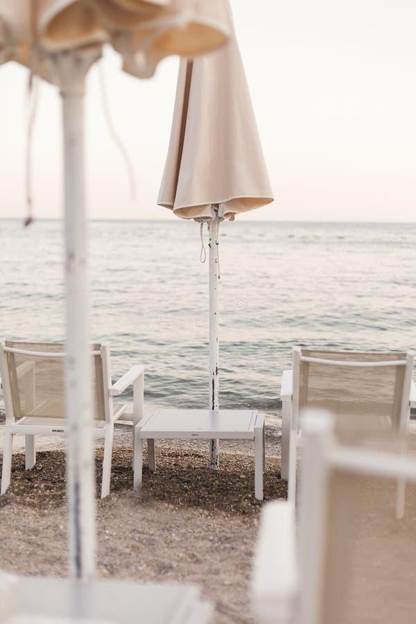 Ατμοσφαιρική ρομαντική αδριατική θάλασσα παραλιών στοκ φωτογραφία