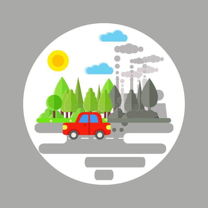 Ατμοσφαιρική ρύπανση αυτοκινήτων απεικόνιση αποθεμάτων